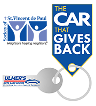 the car that gives back logo - ulmer