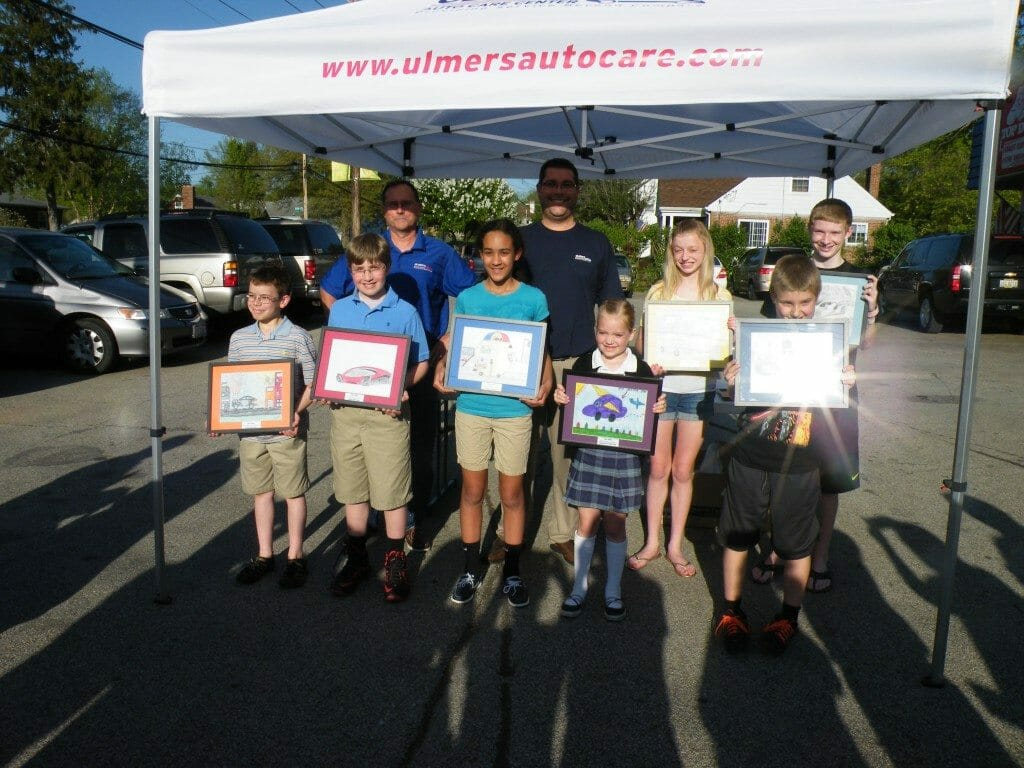 Winners of the Art Contest at Ulmer's Auto Care - auto repair in Cincinnati, OH