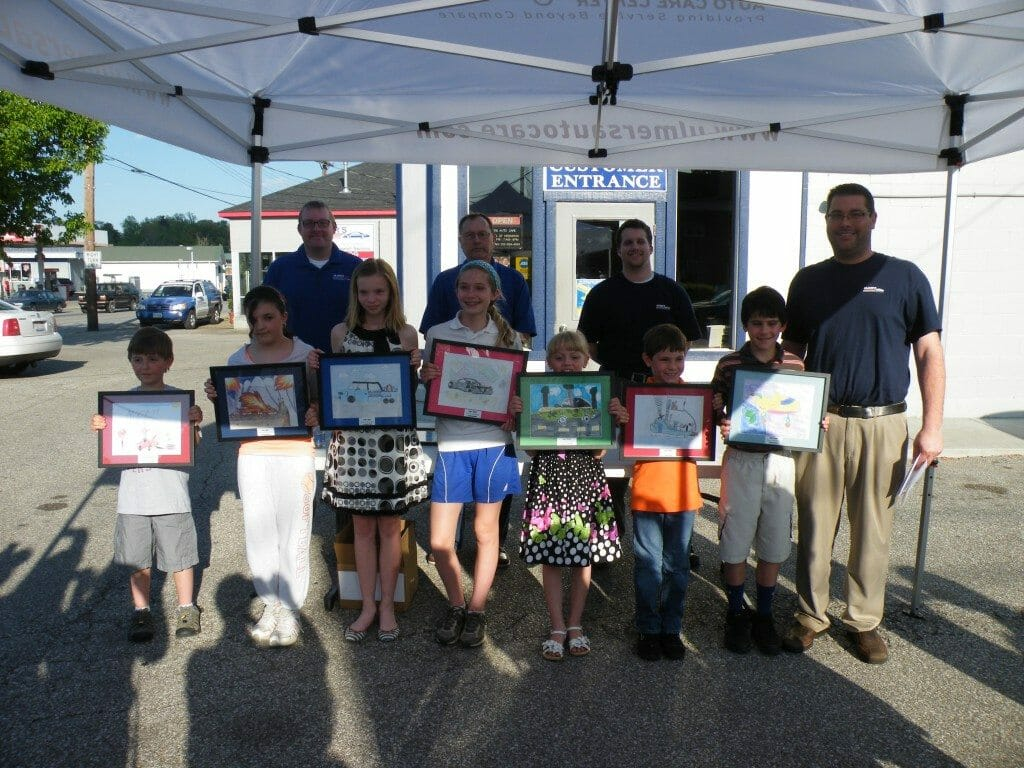 Winners of the Milford art contest at Ulmer's Auto Care - auto repair Milford, OH