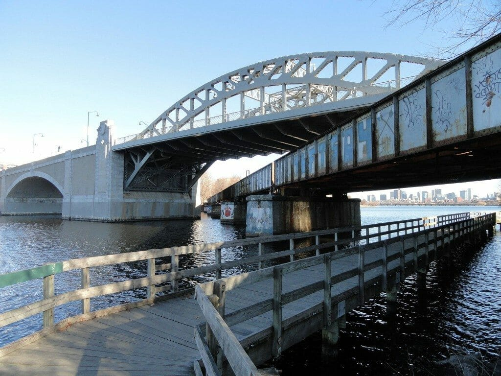 The Boston University Bridge in Boston, MA
