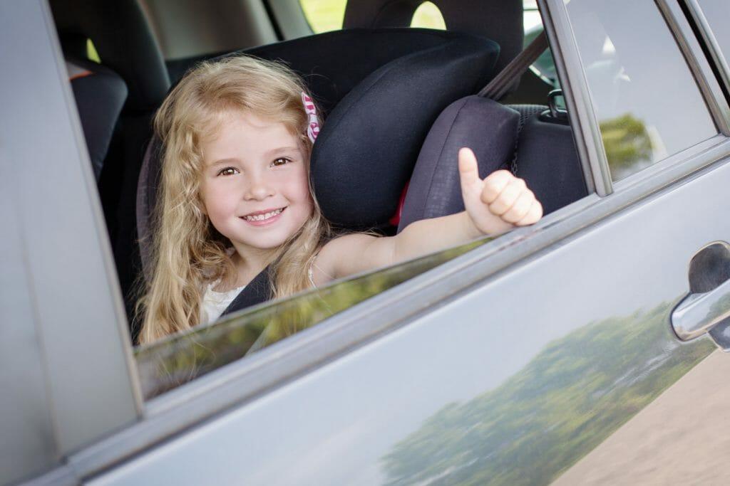 Child in Carpool Van