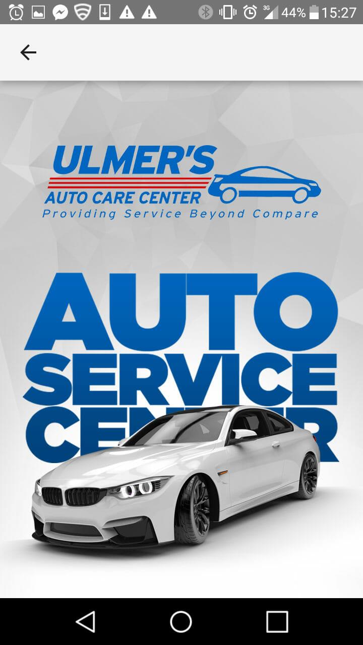 Ulmers Auto Care- Auto Service App
