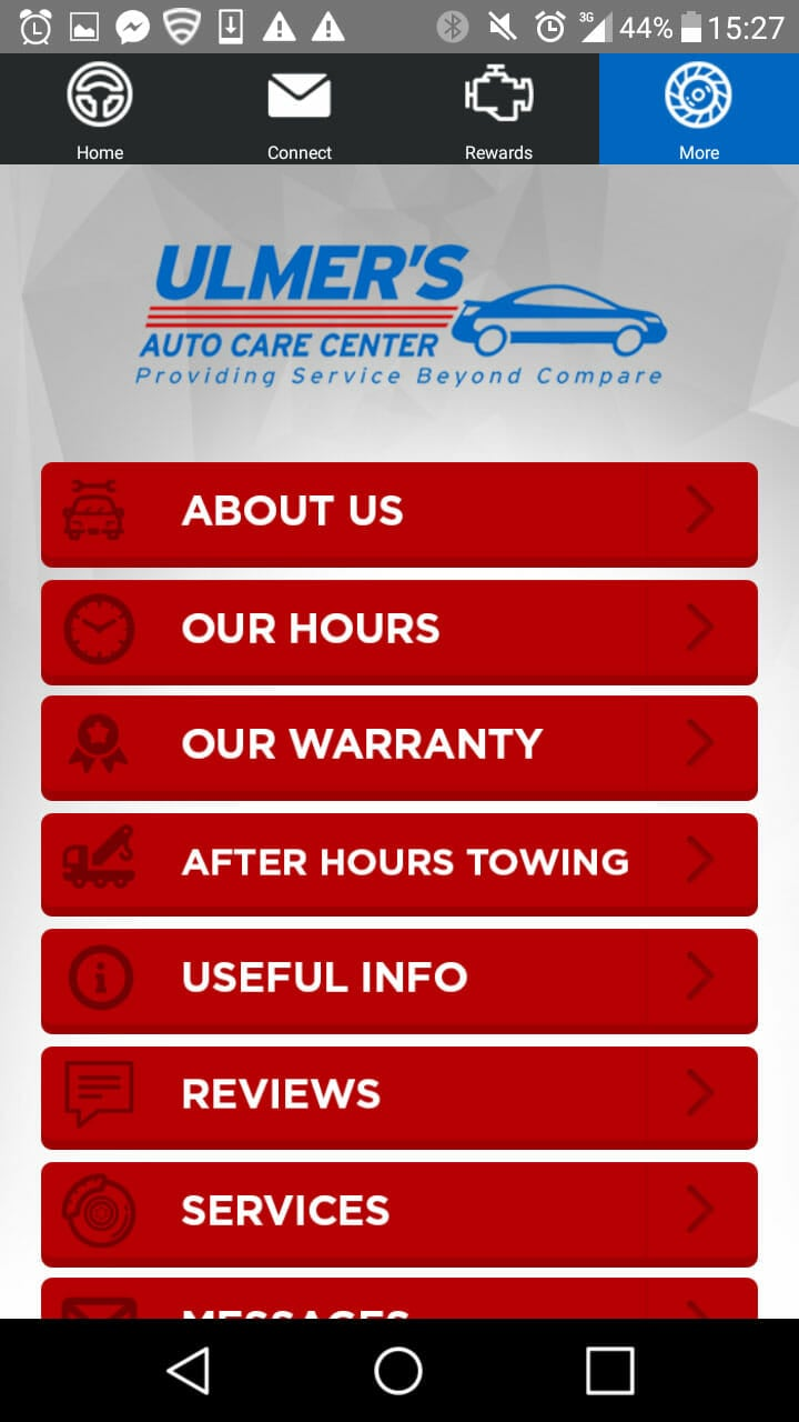 Ulmer's Auto Care Center App - Milford Location